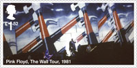 Pink Floyd £1.52 Stamp (2016) The Wall Tour, 1981
