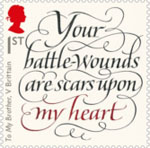 The Great War - 1916 1st Stamp (2016) 'To My Brother', Vera Brittain