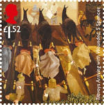 The Great War - 1916 £1.52 Stamp (2016) Travoys Arriving with Wounded, Stanley Spencer