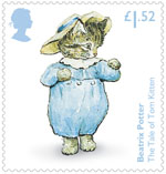 Beatrix Potter £1.52 Stamp (2016) The Tale of Tom Kitten