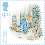 Beatrix Potter £1.33 Stamp (2016) The Tale of Peter Rabbit - Three