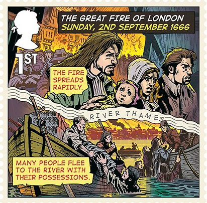 Great Fire of London anniversary marked by setting replica ... |Impressionist Fire London