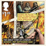 The Great Fire of London £1.05 Stamp (2016) Monday, 3rd September 1666, Fire Breaks Created