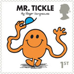 Mr Men and Little Misses 1st Stamp (2016) Mr. Tickle