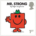 Mr Men and Little Misses 1st Stamp (2016) Mr. Strong