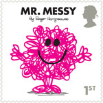 Mr Men and Little Misses 1st Stamp (2016) Mr. Messy