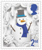 Christmas 2016 2nd Stamp (2016) Snowman