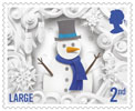Christmas 2016 2nd Large Stamp (2016) Snowman