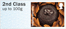 Post & Go : Hibernating Animals 1st Stamp (2016) Hedgehog