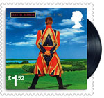 David Bowie £1.52 Stamp (2017) Earthling