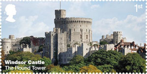 Windsor Castle 1st Stamp (2017) The Round Tower