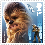Star Wars - Droids and Aliens 1st Stamp (2017) Chewbacca