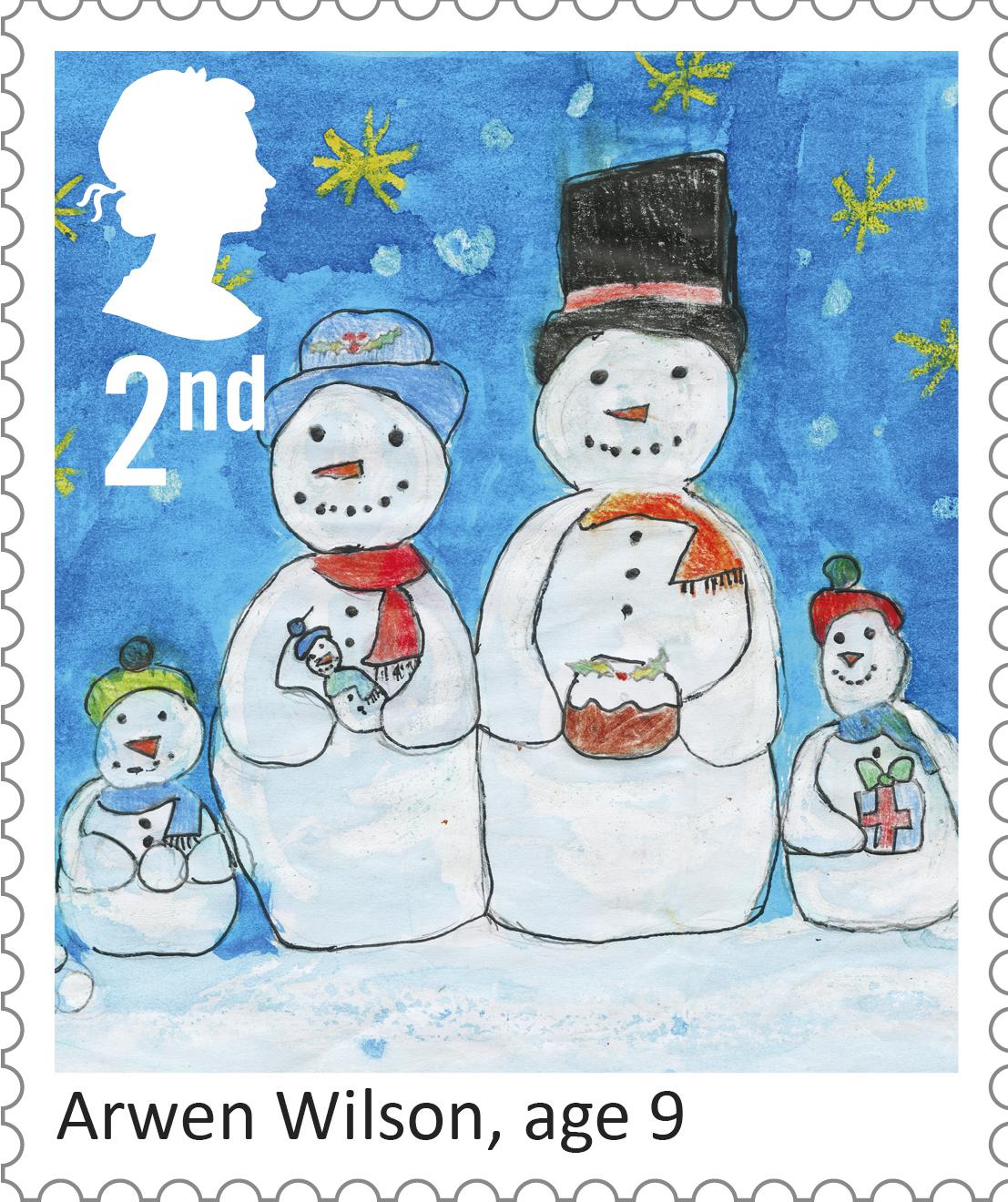 christmas 2017 2nd stamp 2017 arwen wilson snowmen
