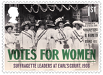 Votes For Women 1st Stamp (2018) Suffragette Leaders at Earl's Court, 1908