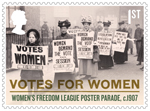 Votes For Women 1st Stamp (2018) Women's Freedom League Poster Parade, c.1907