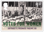 Votes For Women £1.57 Stamp (2018) Suffragette Prisoner's Pageant, 1911