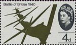 25th Anniversary of Battle of Britain 4d Stamp (1965) Flight of Supermarine Spitfires