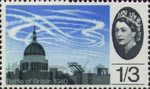 25th Anniversary of Battle of Britain 1s3d Stamp (1965) Air Battle over St Paul's Cathedral