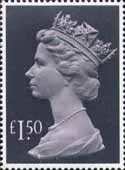 High Value Definitive £1.50 Stamp (1986) pale mauve and grey black
