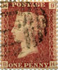 Definitive 1d Stamp (1854) Penny Red