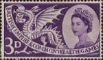 Sixth British Empire and Commonwealth Games, Cardiff 3d Stamp (1958) Welsh Dragon