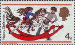 Christmas 4d Stamp (1968) Girl and Boy with Rocking Horse
