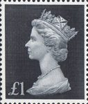 High Value Definitives £1 Stamp (1969) Blue/Black