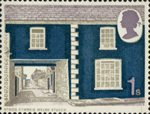 British Rural Architecture 1s Stamp (1970) Welsh Stucco