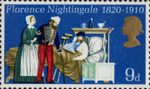 General Anniversaries 9d Stamp (1970) Florence Nightingale attending Patients