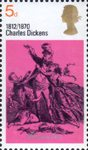 Literary Anniversaries 5d Stamp (1970) 'Mr and Mrs Micawber' (David Copperfield)