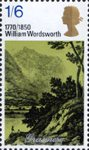 Literary Anniversaries 1s6d Stamp (1970) 'Grasmere' (from engraving by J. Farrington, R.A.)