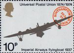 Centenary of Universal Postal Union 10p Stamp (1974) Imperial Airways, Short S.21 Flying Boat Maia, 1937