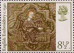 Christmas 8.5p Stamp (1976) Angel with Crown