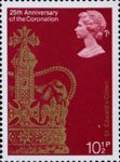 25th Anniversary of Coronation 10.5p Stamp (1978) St Edward's Crown