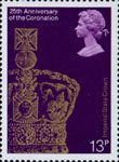 25th Anniversary of Coronation 13p Stamp (1978) Imperial State Crown