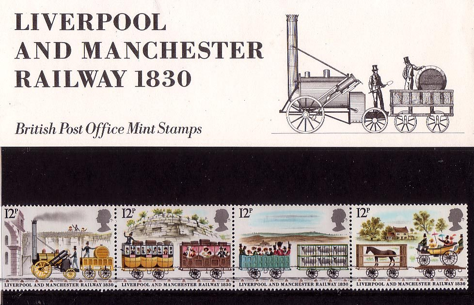 Liverpool And Manchester Railway 1830 1980 Collect Gb Stamps