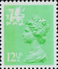Regional Decimal Definitive - Wales 12.5p Stamp (1982) Light Emerald