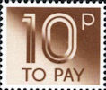 To Pay Labels 10p Stamp (1982) To Pay 10p