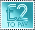 To Pay Labels £2.00 Stamp (1982) To Pay £2.00