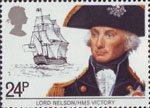 Maritime Heritage 24p Stamp (1982) Lord Nelson and HMS Victory
