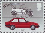 British Motor Cars 19.5p Stamp (1982) Ford 'Model T' and 'Escort'