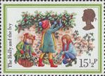 Christmas 1982 15.5p Stamp (1982) 'The Holly and the Ivy'
