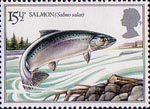 British River Fishes 15.5p Stamp (1983) Atlantic Salmon
