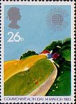 Commonwealth Day 26p Stamp (1983) Temerate Farmland