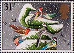 Christmas 1983 31p Stamp (1983) 'Christmas Dove' (hedge sculpture)