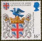 Heraldry 16p Stamp (1984) Arms of College of Arms