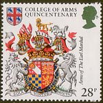 Heraldry 28p Stamp (1984) Arms of the Earl Marshal of England