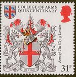 Heraldry 31p Stamp (1984) Arms of City of London