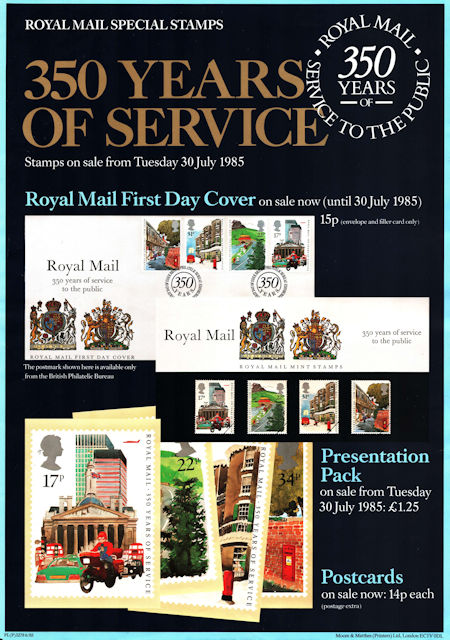 350 Years of Royal Mail Public Postal Service