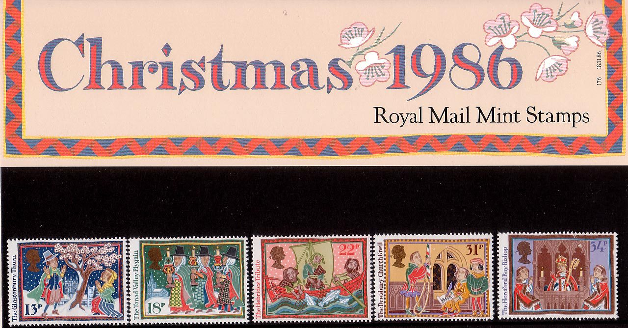 Christmas 1986 1986 Collect Gb Stamps